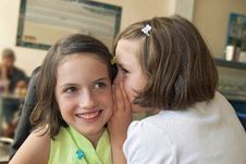 Free Sisters Whispering On The Ear Stock Photos - 26767423