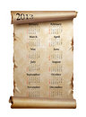 Free Calendar 2013. Scroll Of Old Paper Stock Photos - 26770373