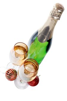 Free Champagne Glasses And Toys Isolated Stock Photo - 26770430