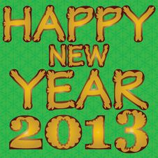 Happy New Year 2013. Stock Photo