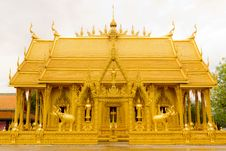 Free Golden Thai Chapel. Royalty Free Stock Images - 26772299
