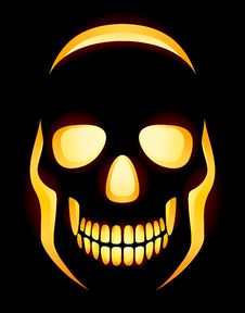 Jack-o-lantern Skull Royalty Free Stock Photos