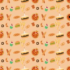 Free Colored Bakery Seamless Pattern Royalty Free Stock Photos - 26774718