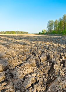 Free The Plowed Field Stock Images - 26777254