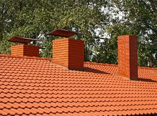 Free The Roof Is Covered With Orange Tiles Royalty Free Stock Images - 26778619