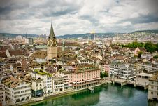 Free Zürich City Panorama Royalty Free Stock Photography - 26778857