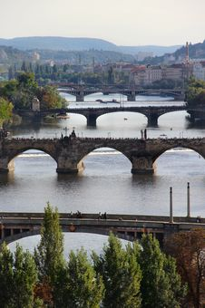 Free Prague Bridges Royalty Free Stock Photography - 26779867