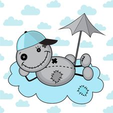 Monster Boy On A Cloud Stock Photos
