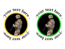 Free U.S Soldier Badge Or Sticker Stock Photography - 26784082