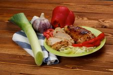 Free Grilled Chicken Royalty Free Stock Photo - 26784245