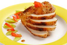 Slices Of Chicken Breast Royalty Free Stock Photos