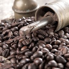 Old-fashioned Coffee Grinder Stock Images
