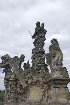 Free Charles Bridge, Prague, Czech Republic Royalty Free Stock Image - 26787876