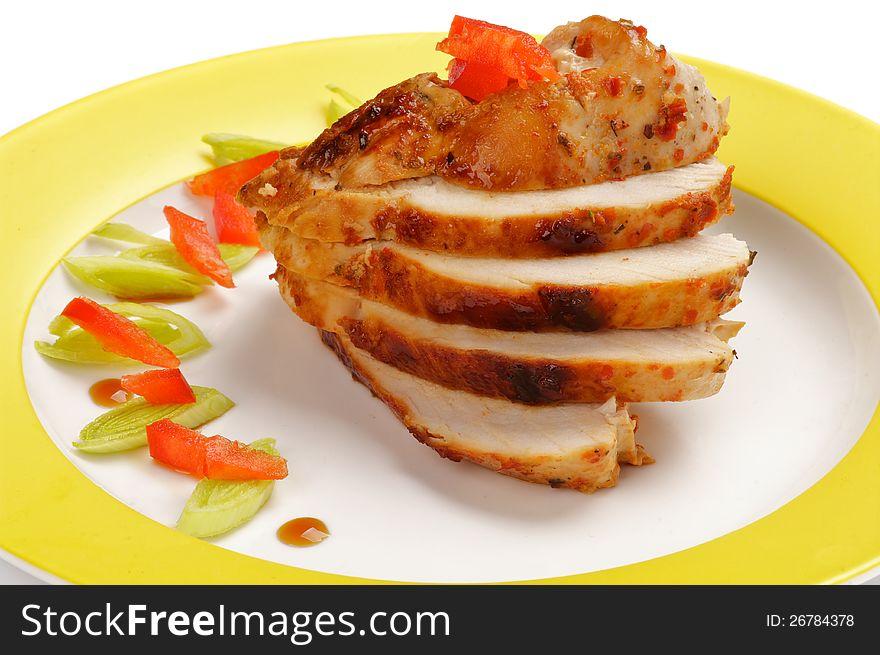 Slices of Chicken Breast