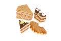 Free Delicious Cakes On A White Background Stock Photos - 26794263