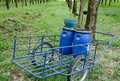 Free Blue Barrow For Harvesting Royalty Free Stock Photography - 26798337