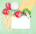 Free Recipe Card With Ingredients Stock Photo - 26799920