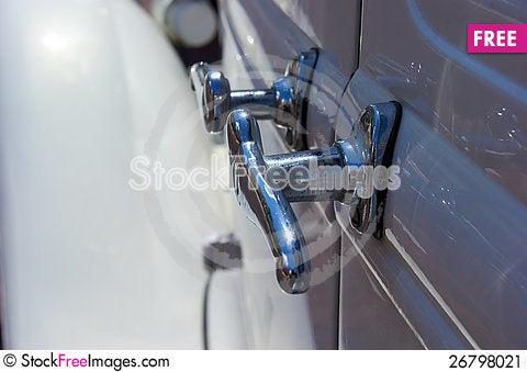Free Chrome Door Handles On Antique Auto Stock Image - 26798021