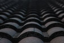 Free Black Roof Tile Royalty Free Stock Photo - 26790045