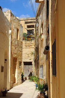 Old Street, Victoria, Gozo, Malta. Stock Images