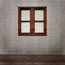 Free Grunge Interior With Window Stock Images - 26790954
