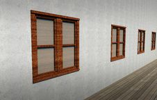 Free Closed Windows In A Concrete Wall Royalty Free Stock Images - 26791159