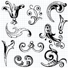 Free Vintage Design Elements Stock Image - 26792171