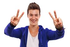 Free Happy Young Man Royalty Free Stock Photos - 26793278