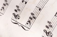 Free Old Music Notes Royalty Free Stock Images - 26795719