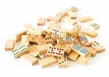 Free Heap Wooden Domino Stock Photography - 26797752