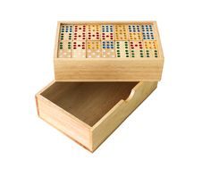 Free Wooden Domino In Box Royalty Free Stock Photography - 26797777