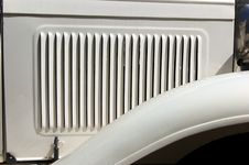 Close Up Of Hood Grill On Antique Car Royalty Free Stock Photos