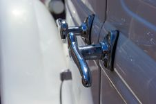 Free Chrome Door Handles On Antique Auto Stock Image - 26798021