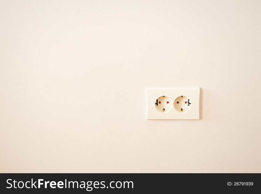 Electrical outlet on wall