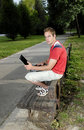 Free Young Man With Notebook Stock Image - 2688221