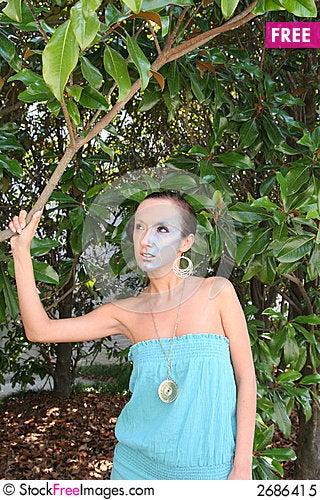 Free Model Holding Tree Royalty Free Stock Photo - 2686415