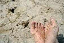 Free Feet On Sand Stock Image - 2680211