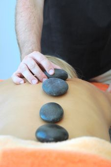 Hot Stones Massage Royalty Free Stock Photography
