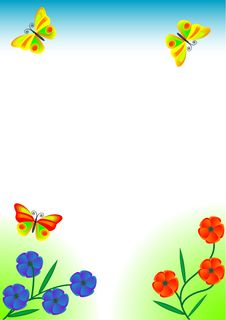 Free Flowers, Butterfly, Grass Stock Photography - 2682302