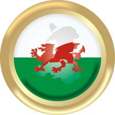 Free Map And Flag From Wales Royalty Free Stock Image - 2682826