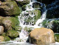 Mossy Waterfall Royalty Free Stock Photos