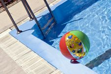 Inflatable Ball In Pool Stock Photos