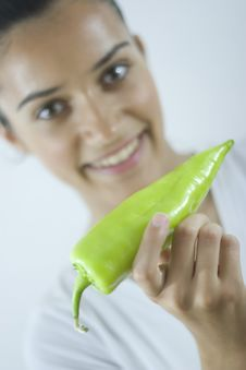Free Girl With Paprika Stock Image - 2685041
