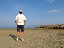 Free Man On The Beach Stock Images - 2686064