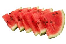 Free Juicy Watermelon Pieces Royalty Free Stock Photo - 2686245