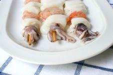 Three Fish Kebabs Royalty Free Stock Image