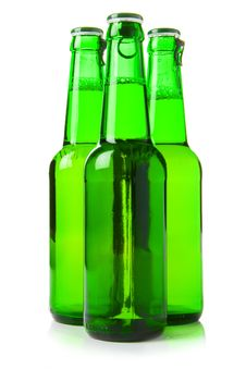 Free Three Green Beer Bottles Royalty Free Stock Images - 2686479