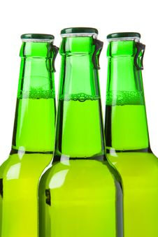 Free Three Green Beer Bottles Royalty Free Stock Photos - 2686488