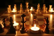 Free Chess At Night Royalty Free Stock Photo - 2686595