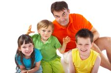 Free Uncle With Nephews And Niece Stock Images - 2687344